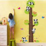 Muursticker Panda Boom Groeimeter