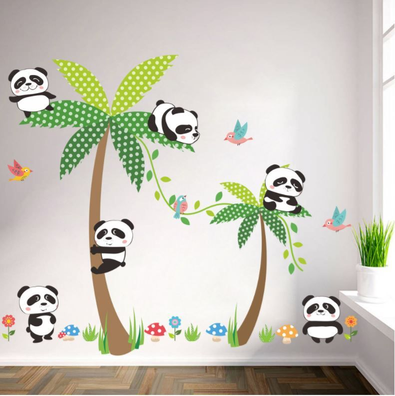 Muurstickers Babykamer Beertjes.Muurstickers Babykamer Panda Meermuurstickers Nl