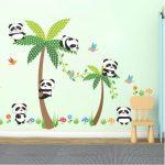 Muurstickers Babykamer Panda