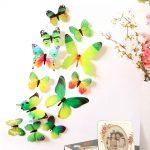 3D Vlinder Stickers Groen