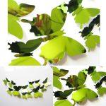 3D Vlinders Spiegel Groen