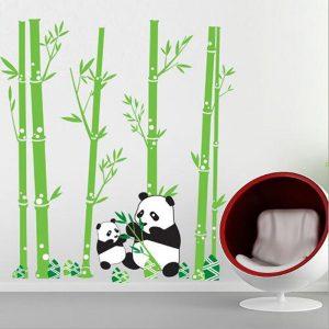 Panda Muursticker