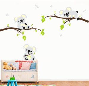 Muursticker Babykamer Tak Koala