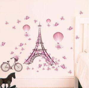 Muursticker Meisjeskamer Eiffeltoren