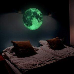 Muursticker Maan Glow in the Dark